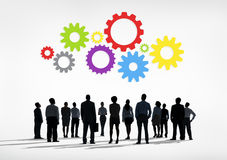 Σκιαγραφίες των επιχειρηματιών και των εννοιών εργαλείων Στοκ Εικόνες