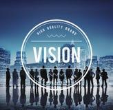 Σκιαγραφίες των επιχειρηματιών με τα επιχειρησιακά σύμβολα Στοκ Εικόνα