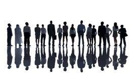 Σκιαγραφίες των διαφορετικών επιχειρηματιών στοκ φωτογραφία με δικαίωμα ελεύθερης χρήσης