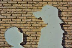 Σκιαγραφίες των ομιλούντων παιδιών Στοκ Εικόνα