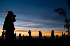 Σκιαγραφίες των φωτογράφων Στοκ εικόνα με δικαίωμα ελεύθερης χρήσης