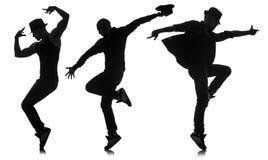 Σκιαγραφίες των χορευτών στην έννοια χορού Στοκ εικόνες με δικαίωμα ελεύθερης χρήσης