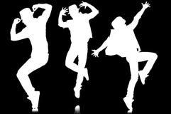 Σκιαγραφίες των χορευτών στην έννοια χορού Στοκ εικόνα με δικαίωμα ελεύθερης χρήσης
