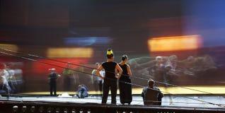 Σκιαγραφίες χορευτών μπαλέτου Στοκ εικόνα με δικαίωμα ελεύθερης χρήσης