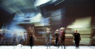 Σκιαγραφίες χορευτών μπαλέτου Στοκ φωτογραφία με δικαίωμα ελεύθερης χρήσης