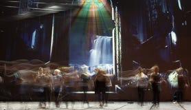 Σκιαγραφίες χορευτών μπαλέτου Στοκ Εικόνες