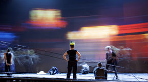 Σκιαγραφίες χορευτών μπαλέτου Στοκ Εικόνα
