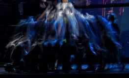 Σκιαγραφίες χορευτών μπαλέτου Στοκ Φωτογραφία