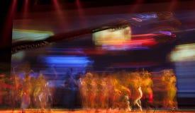 Σκιαγραφίες χορευτών μπαλέτου Στοκ φωτογραφίες με δικαίωμα ελεύθερης χρήσης