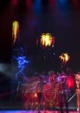 Σκιαγραφίες χορευτών μπαλέτου Στοκ εικόνες με δικαίωμα ελεύθερης χρήσης