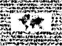 σκιαγραφίες χωρών Στοκ Εικόνες