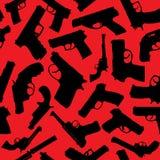 Σκιαγραφίες όπλων Στοκ Εικόνες