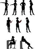 Σκιαγραφίες 1 (κυρία γραφείων) Στοκ εικόνα με δικαίωμα ελεύθερης χρήσης
