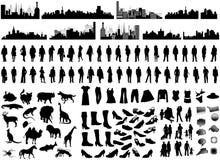 σκιαγραφίες Στοκ εικόνες με δικαίωμα ελεύθερης χρήσης