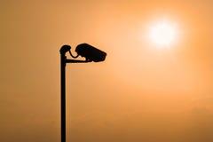 Σκιαγραφίες CCTV Στοκ εικόνες με δικαίωμα ελεύθερης χρήσης