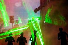 σκιαγραφίες disco Στοκ εικόνες με δικαίωμα ελεύθερης χρήσης