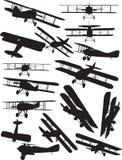 Σκιαγραφίες Spad Στοκ εικόνες με δικαίωμα ελεύθερης χρήσης