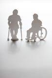 Σκιαγραφεί τα με ειδικές ανάγκες άτομα στοκ φωτογραφία με δικαίωμα ελεύθερης χρήσης