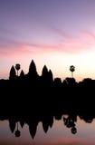 σκιαγραφημένη η Καμπότζη αν&a Στοκ φωτογραφίες με δικαίωμα ελεύθερης χρήσης