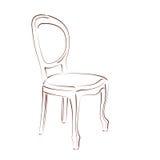 Σκιαγραφημένη καρέκλα Στοκ Φωτογραφία