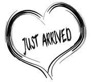 Σκιαγραφημένη μαύρη καρδιά με ΑΚΡΙΒΩΣ το ΠΡΟΣΕΓΓΙΣΜΕΝΟ κείμενο απεικόνιση αποθεμάτων