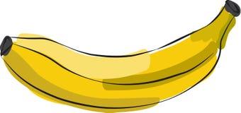 Σκιαγραφημένη μπανάνα Στοκ Φωτογραφία