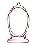 Σκιαγραφημένος καθρέφτης Στοκ Φωτογραφίες