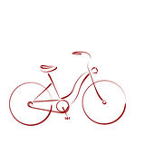 Σκιαγραφημένο θηλυκό ποδήλατο Στοκ εικόνες με δικαίωμα ελεύθερης χρήσης