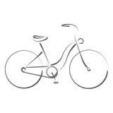 Σκιαγραφημένο θηλυκό ποδήλατο Στοκ εικόνα με δικαίωμα ελεύθερης χρήσης