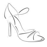 Σκιαγραφημένο παπούτσι γυναικών s Στοκ εικόνα με δικαίωμα ελεύθερης χρήσης
