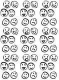 Σκιαγραφημένο smileys σχέδιο διανυσματική απεικόνιση