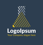Σκιασμένη λογότυπο σκιαγραφία προτύπων μιας χημικής φιάλης Στοκ φωτογραφία με δικαίωμα ελεύθερης χρήσης