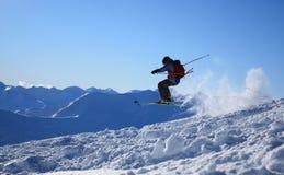 σκι άλματος freeride Στοκ εικόνα με δικαίωμα ελεύθερης χρήσης