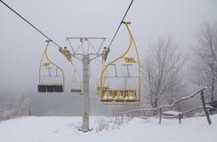 σκι ανελκυστήρων εδρών Στοκ Φωτογραφίες