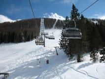 σκι ανελκυστήρων Στοκ φωτογραφία με δικαίωμα ελεύθερης χρήσης