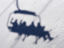 σκι ανελκυστήρων Στοκ φωτογραφίες με δικαίωμα ελεύθερης χρήσης