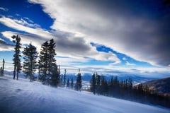 σκι βουνών του Κολοράντο στοκ φωτογραφίες