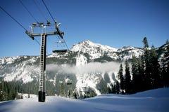 σκι βουνών Στοκ Εικόνες