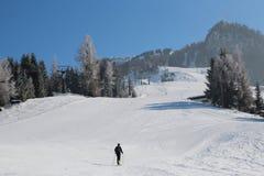 Σκι-γύρος σε Gerloss, Αυστρία, Ευρώπη Στοκ Φωτογραφίες