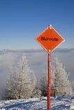σκι διαδρομών Στοκ φωτογραφία με δικαίωμα ελεύθερης χρήσης
