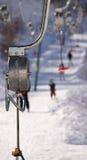 σκι δύο ανελκυστήρων Στοκ Εικόνες