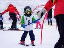 σκι εκμάθησης Στοκ Φωτογραφία