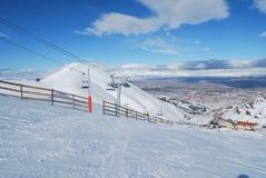 σκι θερέτρου ανελκυστήρων εδρών Στοκ Φωτογραφίες