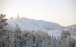 σκι θερέτρου τοπίων Στοκ Φωτογραφίες