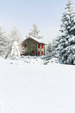 Σκι που οργανώνεται να κάνει σκι στην περιοχή μέσω Lattea, Ιταλία Στοκ Φωτογραφία