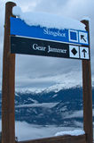 σκι σημαδιών Στοκ Εικόνες