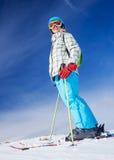 Σκι, σκιέρ, χειμώνας Στοκ Εικόνες