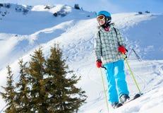 Σκι, σκιέρ, χειμώνας Στοκ Φωτογραφία