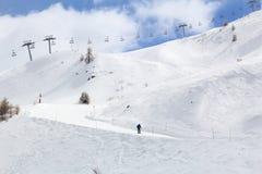Σκι της Γαλλίας piste στοκ φωτογραφίες