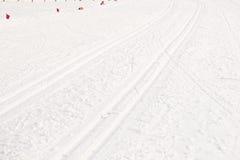 σκι τρεξίματος Στοκ εικόνα με δικαίωμα ελεύθερης χρήσης